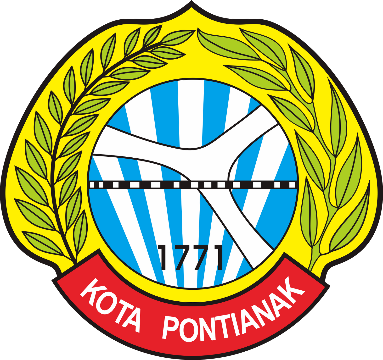 Logo Kabupaten Kota Kalimantan Barat Malianury Grafiti
